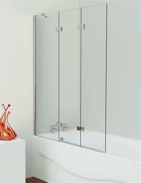 Designer Kitchen Taps by Kudos Inspirational 3 Panel Bath Screen Left And Right Handed