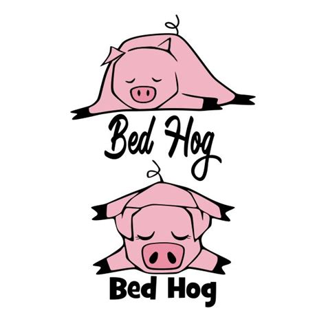 bed hog bandana pig cuttable design