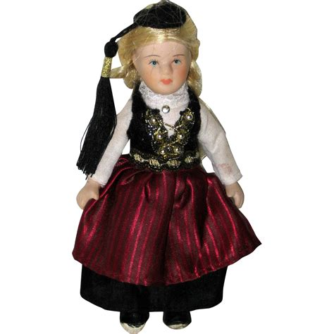 bisque porcelain doll bisque porcelain doll in ethnic costume from