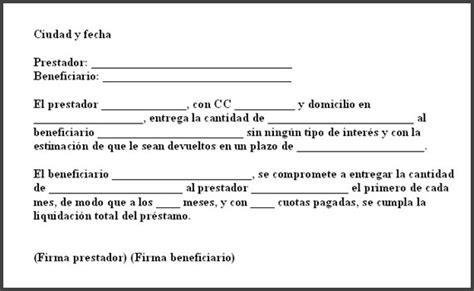 ejemplo de carta de prestamo de dinero c 243 mo hacer una carta de pr 233 stamo como hacer