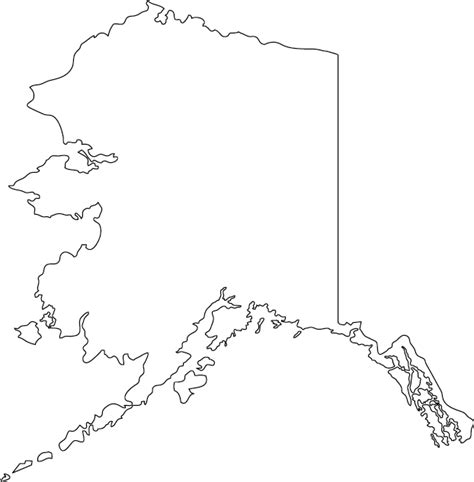 us map outline with alaska and hawaii alaska outline map clipart best clipart best
