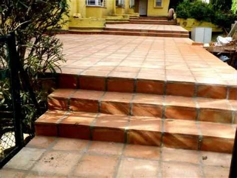 terracotta tiles how to lay terracotta tiles exterior