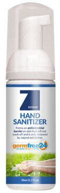sample size zoono germfree  hand sanitizer ml   clo network store