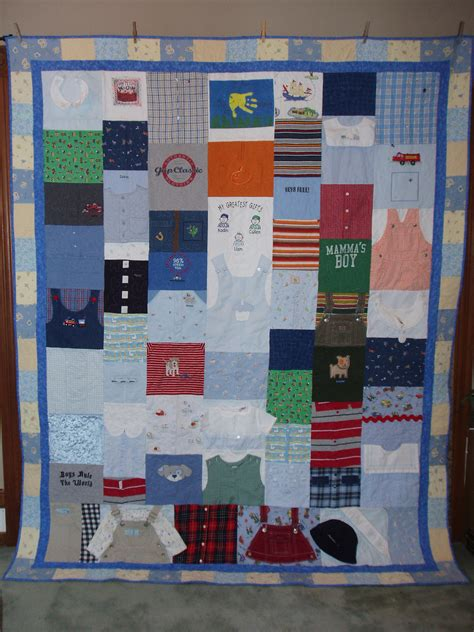Quilts Made From Baby Clothes by Size Quilt Made From Baby Clothes Custom Orders