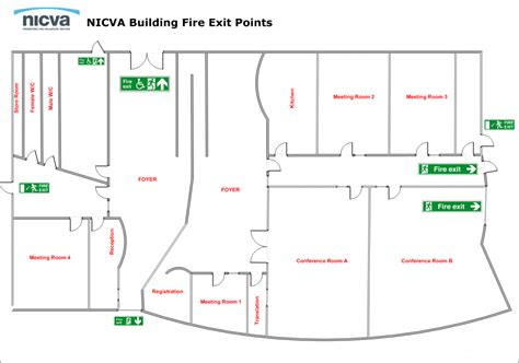 fire safety plan ground floor obd plans exit template emergency evacuation procedures diagram emergency free