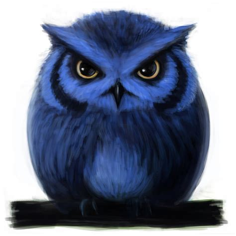 Piyama Owl Blue Piyama Owl blue owl by d3h1 on deviantart