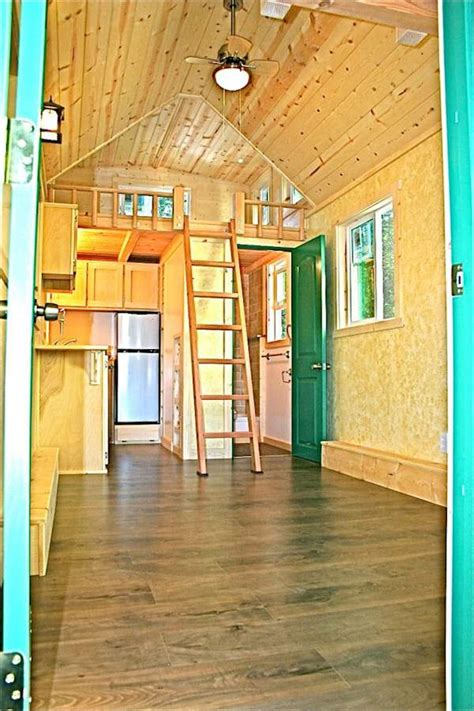 tiny house with a flip up porch