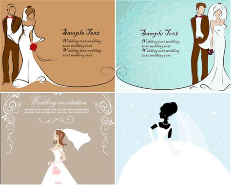free vector template wedding card blank wedding card vector