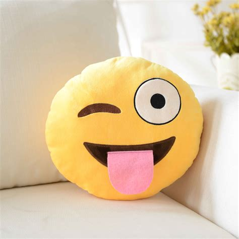 Sofa Emoticon hunger ultra soft plush emoji pillow cusion for sofa