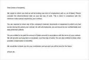 Letter Of Employment Contract Termination Contract Termination Letter Template 17 Free Sle