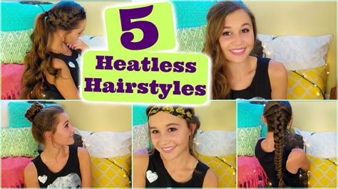 heatless hairstyles youtube 5 heatless hairstyles youtube