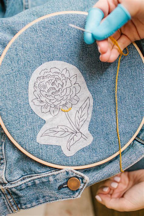 embroidery diy diy embroidered denim conrad