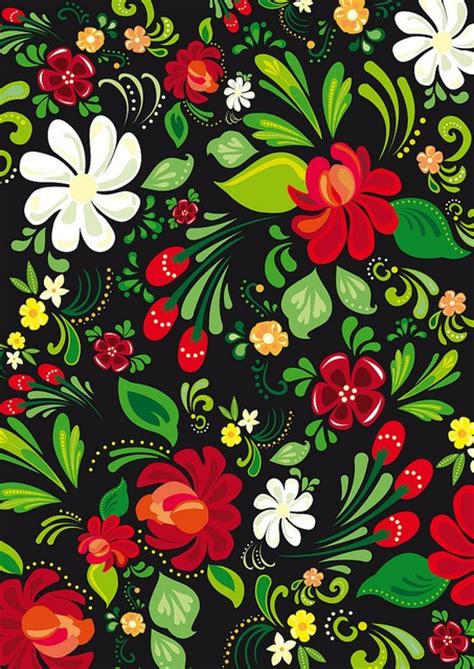 floral pattern artwork witticisms fancy folk art