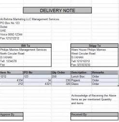 how to create delivery note in excel free learning center