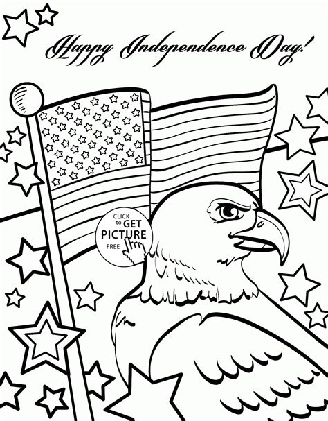 july 4th coloring pages printable free independence day of 4th of july coloring page for kids
