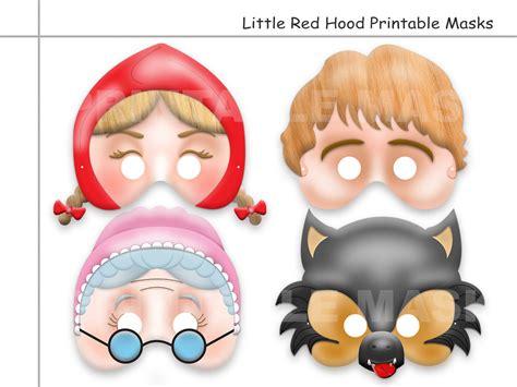 printable masks for little red riding hood unique little red riding hood tale printable masks wolf
