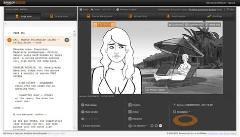 free online storyboard creator amazon launches free movie storyboard tool with a catch
