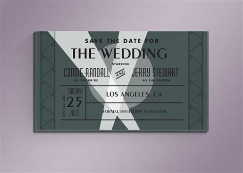 how to save title card as template premiere diy ticket save the date card by