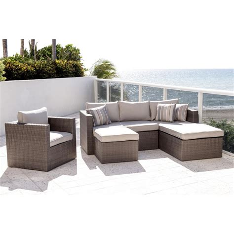 outdoor sectional cushions atlantic allen grey 4 piece wicker outdoor sectional set