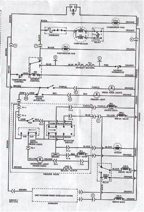 wiring diagram for ge profile refrigerator wiring free