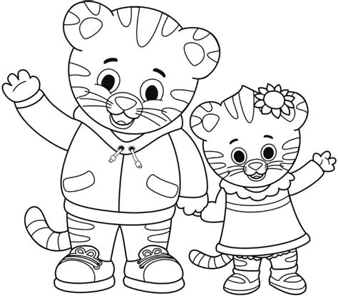 daniel tiger coloring pages coloring page daniel tiger drawing board weekly