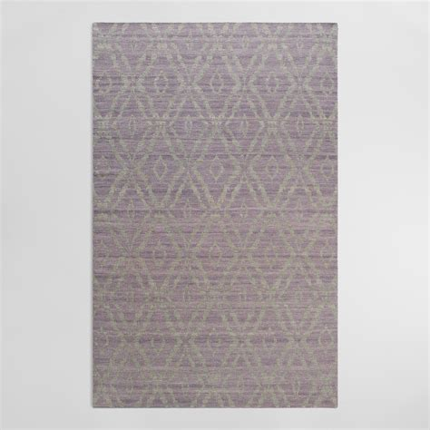 plum rug 5 x8 plum and gray wool kilim galen area rug world market