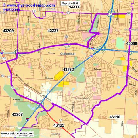 Columbus Oh Zip Code Map by Zip Code Map Of 43232 Demographic Profile Residential