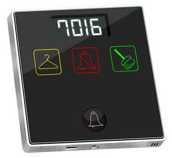 smart hotel door bell panel with service sb 3sbell