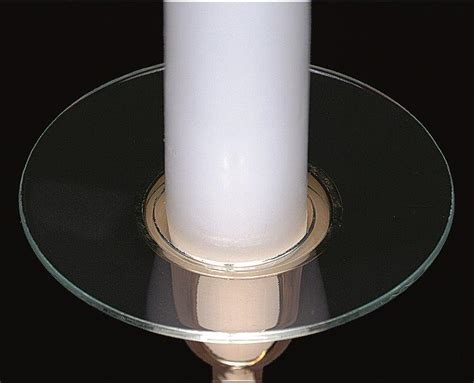 Candle Accessories Glass Plain Bobeche Glass Candle Wax Catchers Set Of 12
