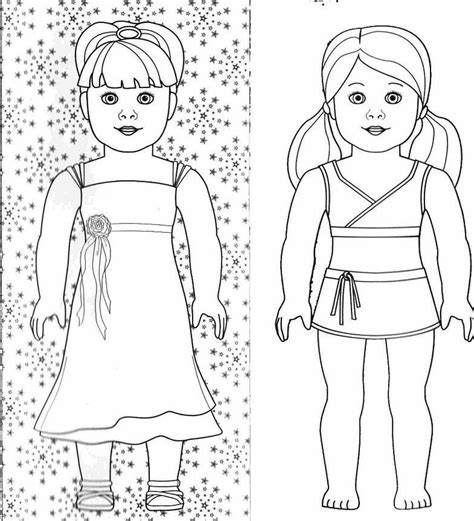 free coloring pages of american girl
