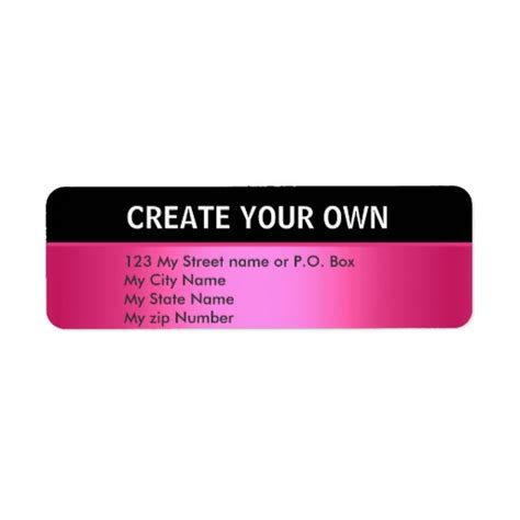 design your label free create your own 30 simple return address label custom