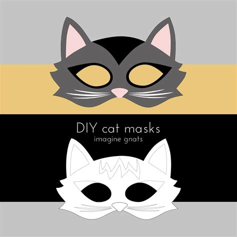 cat mask template imagine gnats craft handmade costumes cat mask tutorial