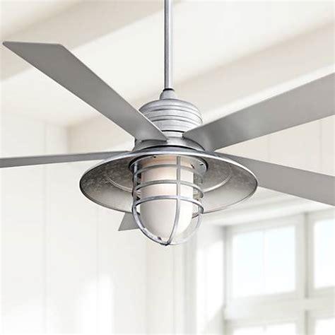 galvanized metal ceiling fan 54 quot minka aire rainman galvanized ceiling fan x2114