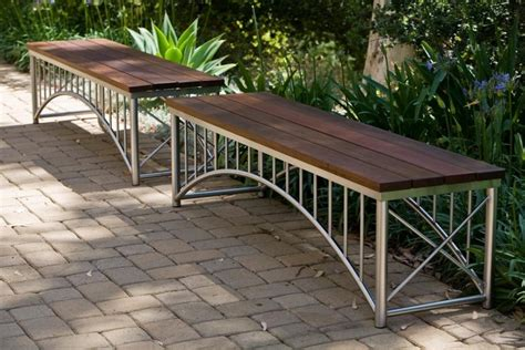 stainless steel garden bench 27 unique and creative outdoor benches for patio or garden