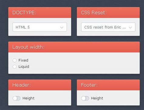 20 Online Css3 Menu Layout Code Generators Idevie Css Design Templates With Code