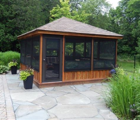 gazebo screen house best 25 screened gazebo ideas on screened in