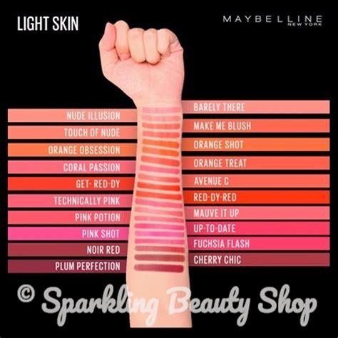 maybelline color sensational matte lipstick jual maybelline color sensational powder matte lipstick di