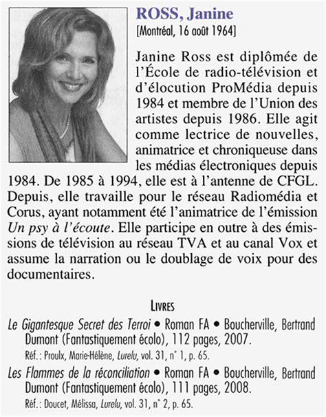 Livres et magazines - Janine Ross