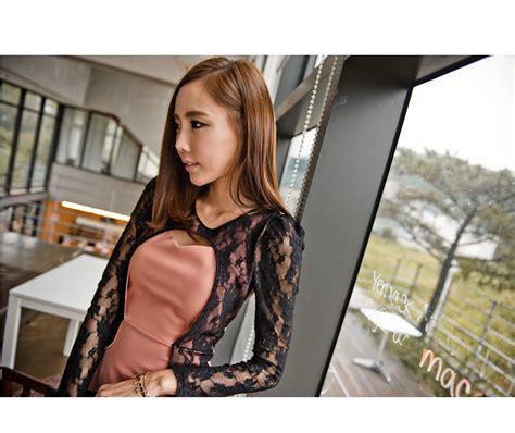 Dress Korea Brokat Cerah Wanita Terkini dress korea brokat cantik model terbaru jual murah