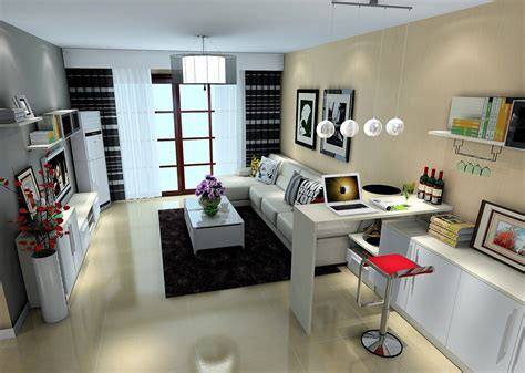 contemporary living room with mini bar d house intended