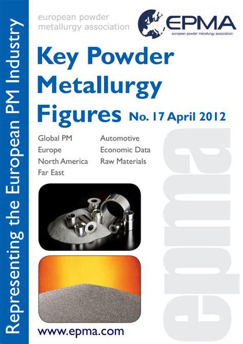 epma free publications european powder metallurgy epma key figures 2012 european powder metallurgy