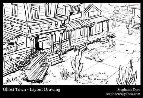 ghost town free coloring pages how to draw ghost town