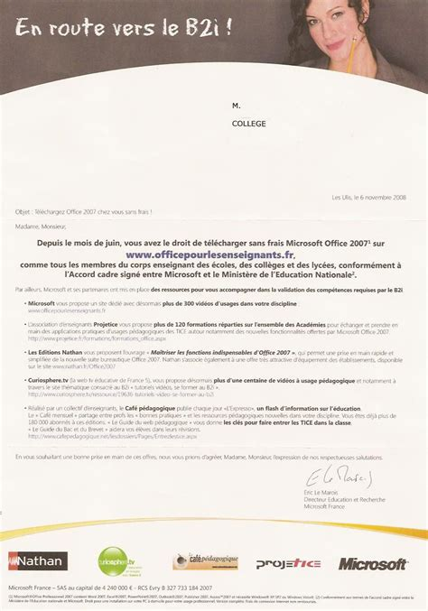 Exemple De Lettre Commerciale Publicitaire Microsoft Marketing Et 233 Ducation Linuxfr Org