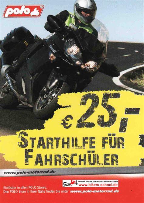 Motorrad Polo Gutschein by Polo Starthilfe Gutschein Fahrschule Motorrad Gutschein