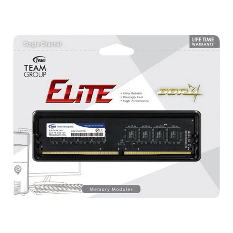 Memory Team Ddr4 4gb Pc2133 2400 For Pc And Laptop team 1x8gb ddr4 2400mhz memory big box computers