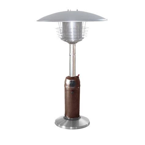 Az Patio Heaters 11 000 Btu Portable Hammered Bronze Stainless Steel Patio Heaters