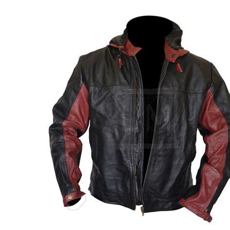 Jacket Hoodie 1 batman black leather jacket with hoodie batman