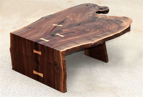 custom modern coffee cocktail table waterfall walnut by