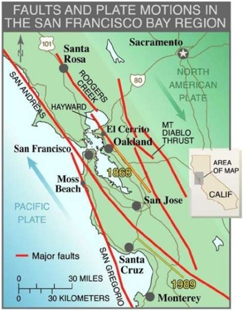 san francisco fault map loma prieta fault in california stronger than previously