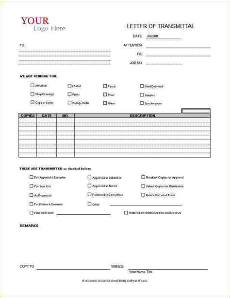 drawing transmittal form template pin submittal transmittal cover sheet exle on
